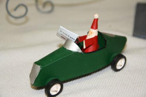 * santa père Noël Noël Décorations de Noël métal voiture de course Gruen