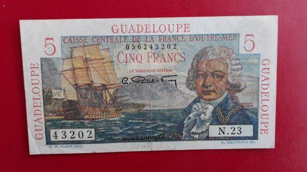 Courageux 5 Francs Bougainville Guadeloupe Caisse Centrale D'outre Mer - Spl+ Design Professionnel