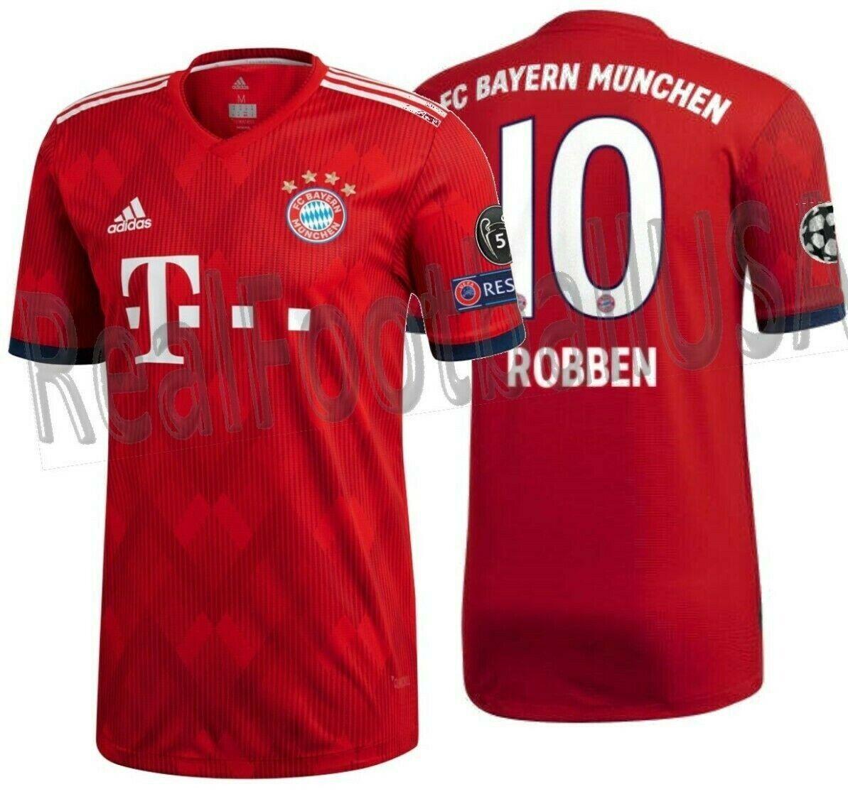 Adidas Arjen Robben Bayern Munich Auténtico Partido Ucl Home Jersey 2018 19