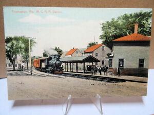 1911-Postcard-Maine-Central-Railroad-Station-Thomaston-Maine