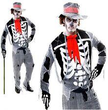 Adult Mens Skeleton Voodoo Man Witch Doctor Halloween Fancy Dress Party Costume