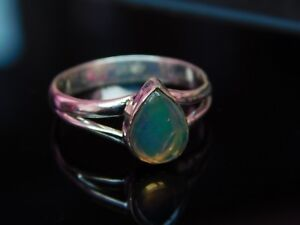Natural Boulder Opal 925 Sterling Silver Ring Beautiful Silver Gemstone Ring AAA Quality Free Shipping