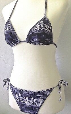 *42* Jean Paul Gaultier Kama Sutra Canotta Stringa Costume Da Bagno Bikini Elevato Standard Di Qualità E Igiene