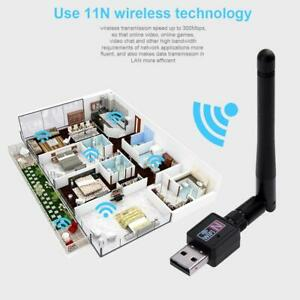300Mbps USB 2.0 WIFI Router Wireless Adapter Network LAN Card 802.11n Antenna #k