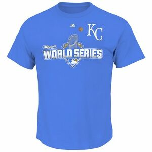 30c8d284 Kansas City Royals MAJESTIC 2015 World Series AC Participant Blue T ...
