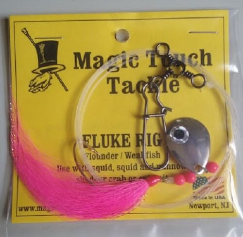 PINK Weakfish Magic Touch Tackle No.570 BUCKTAIL FLUKE RIG Flounder