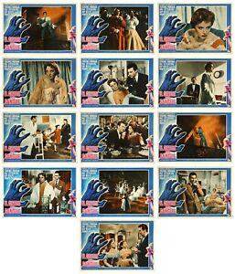 IL GRIDO DEL SANGUE FOTOBUSTE 13 PZ. VAL GUEST 1954 DANCE LITTLE LADY LOBBY CARD