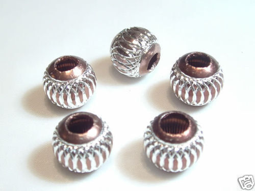 10 abalorios plástico beige 10mm perlas beads r85