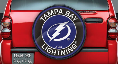 Wheel Cover Tampa Bay Lightning NHL Logo Vinyl For Spare Tire Cover Decal