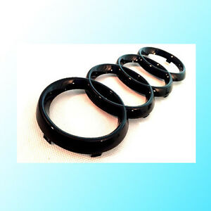 Gloss-Black-Front-Grille-Rings-Badge-Emblem-For-Audi-A3-A4-A5-A6-TT-Q3-Q5-273mm