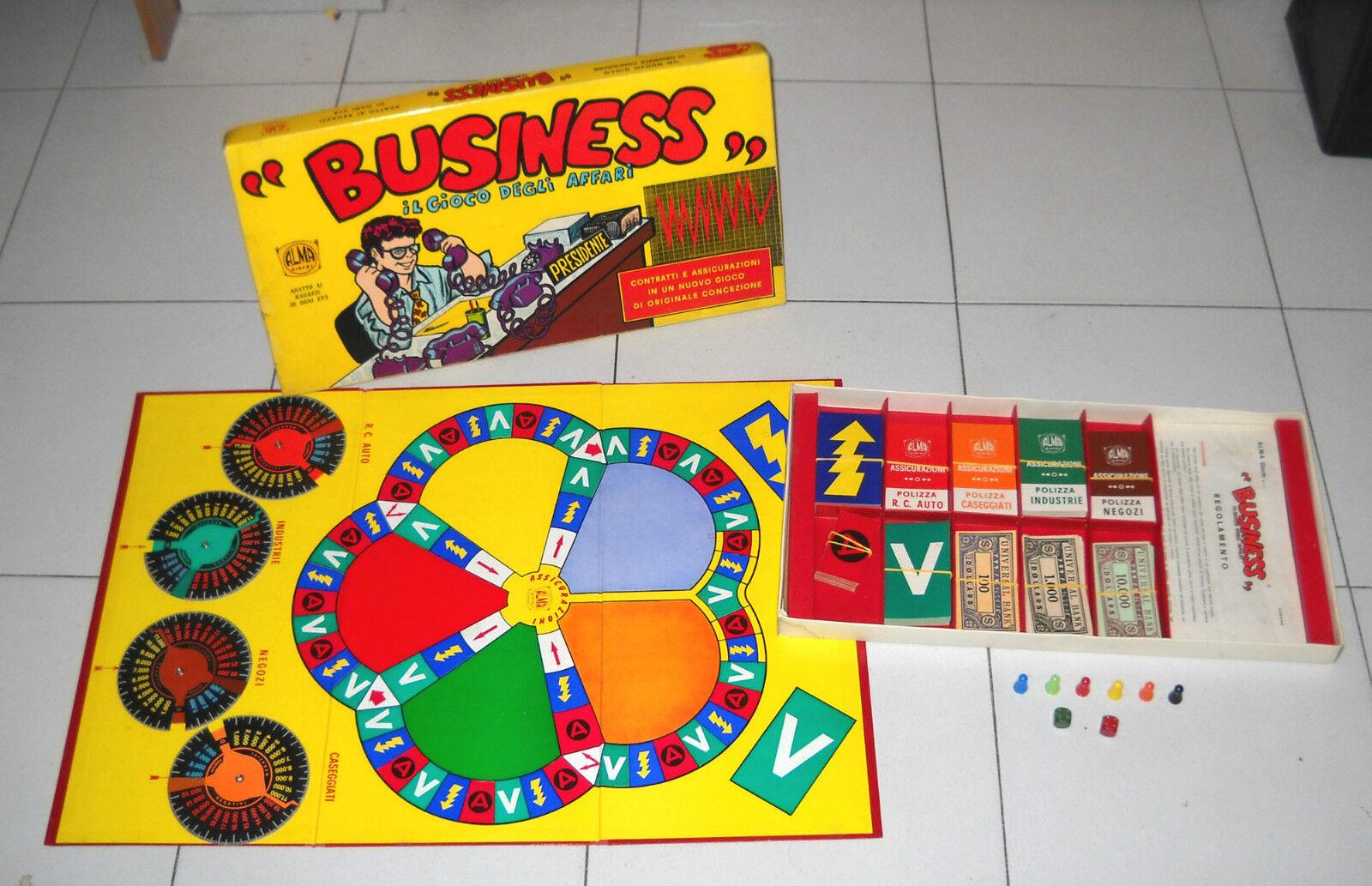 BUSINESS Le jeu de affaires - Et Et Et Alma Jeux 1969 EXCELLENT complet Sac 673f66
