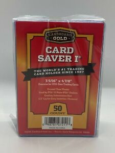 Cardboard Gold Card Saver 1 - 50 Count PSA BGS SGC CGC Graded Submission Holders