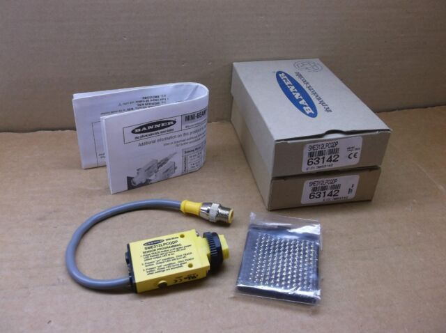 63142 Banner NEW In Box Photoelectric Sensor Switch SME312LPCQDP