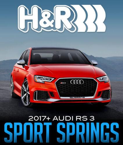 2017-2019 Audi RS3 H/&R Sport Lowering Springs Kit 50345