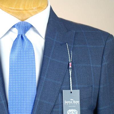 44R SAVILE ROW Blue Check SUIT SEPARATE 44 Regular Mens Suits - SS46 | eBay