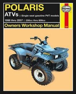 1998 2007 Polaris 250 800 4x4 6x6 Atv Repair Service Workshop Manual Book 9538 Ebay