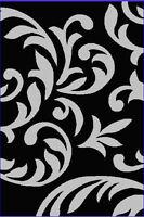 Modern Area Rug 8x10 Contemporary Black Area Rugs Floral Carpet Decor Floor