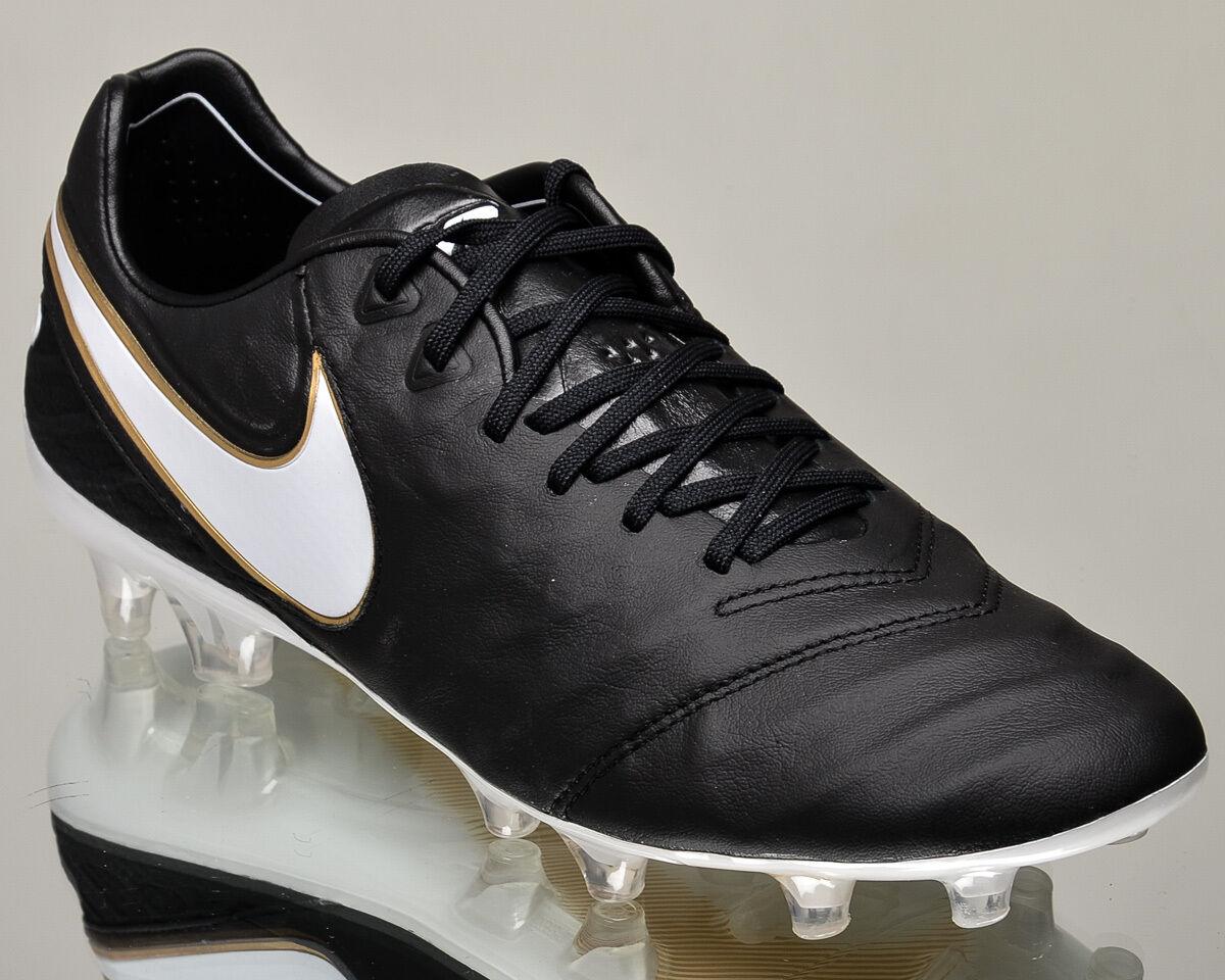 Nike Tiempo Legend VI FG 2 Hommes soccer cleats football NEW noir gold 819177-010