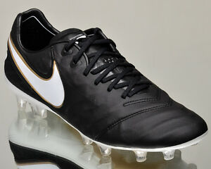 Nike Tiempo Legend VI FG 2 men soccer cleats football NEW black gold ... c37a4c18c