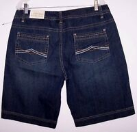 Natural Reflections Shorts 14 Denim Flat Front Casual Short Pants Womens