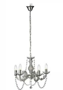 Details About Chandelier Clear 5 Arm Light Argos Home Inspire