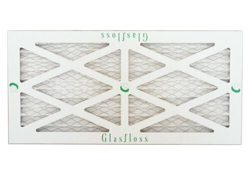 Qty:12 Glasfloss 10x30x1 MERV 10 - - Pleated  Air Furnace Filter Made in USA
