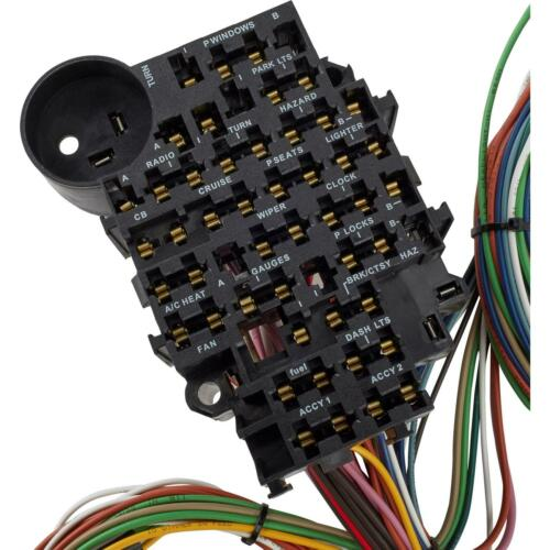 LOOM RAT ROD 22 CIRCUIT UNIVERSAL WIRING HARNESS EAZY WIRING SUIT HOT ROD
