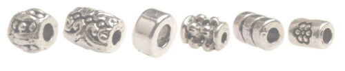 One Box of 340PCS Antiqued Silver Metal Tube Spacer Beads for Jewelry Making