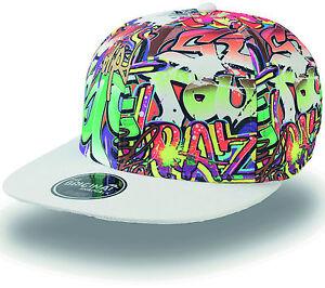 Dynamique Cappellino Visiera Piatta Graffiti Street Piatto Hip-hop Cappello Cap Murales