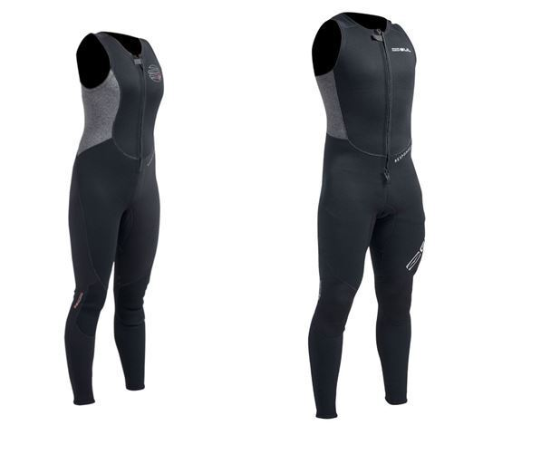 b72fa57292 2017 Gul Response Mens 3mm Flatlock Long John Wetsuit in Black Re4313-a9  Medium for