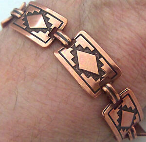 Copper-Bracelet-7-1-2-034-Linked-Wheeler-Mountain-Arthritis-Healing-Folklore-cb-244