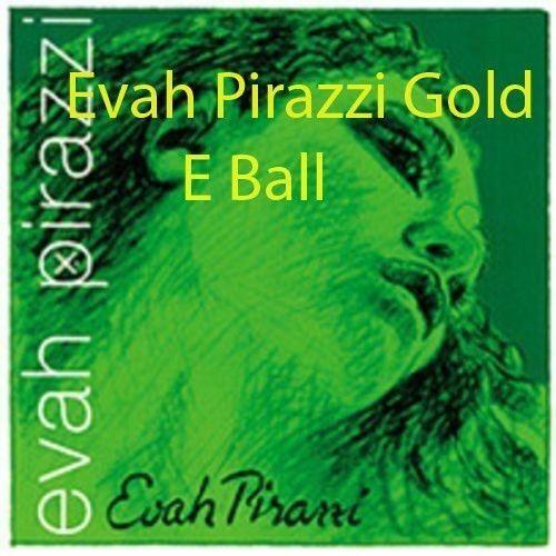 Evah Pirazzi Violin String Set 4 4 Medium Gauge E Gold PLATED BALL