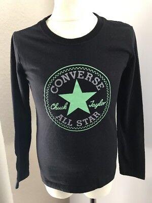 Converse Langarmshirt M 140 146 152 Schwarz Grün 10 12 Jahre Neuwertig Shirt | eBay