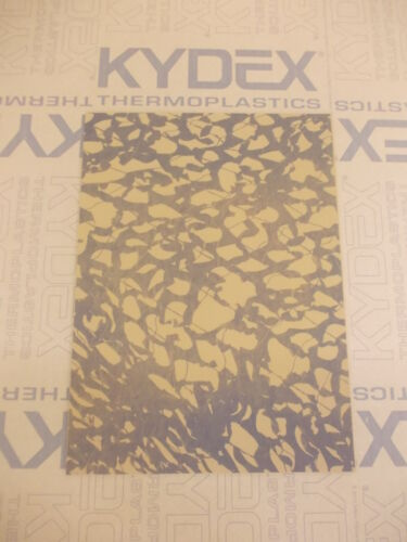 KYDEX T SHEET 297 X 210 X 2MM A4 SIZE  COYOTE BROWN SCRIM CAMO  INFUSED PANEL