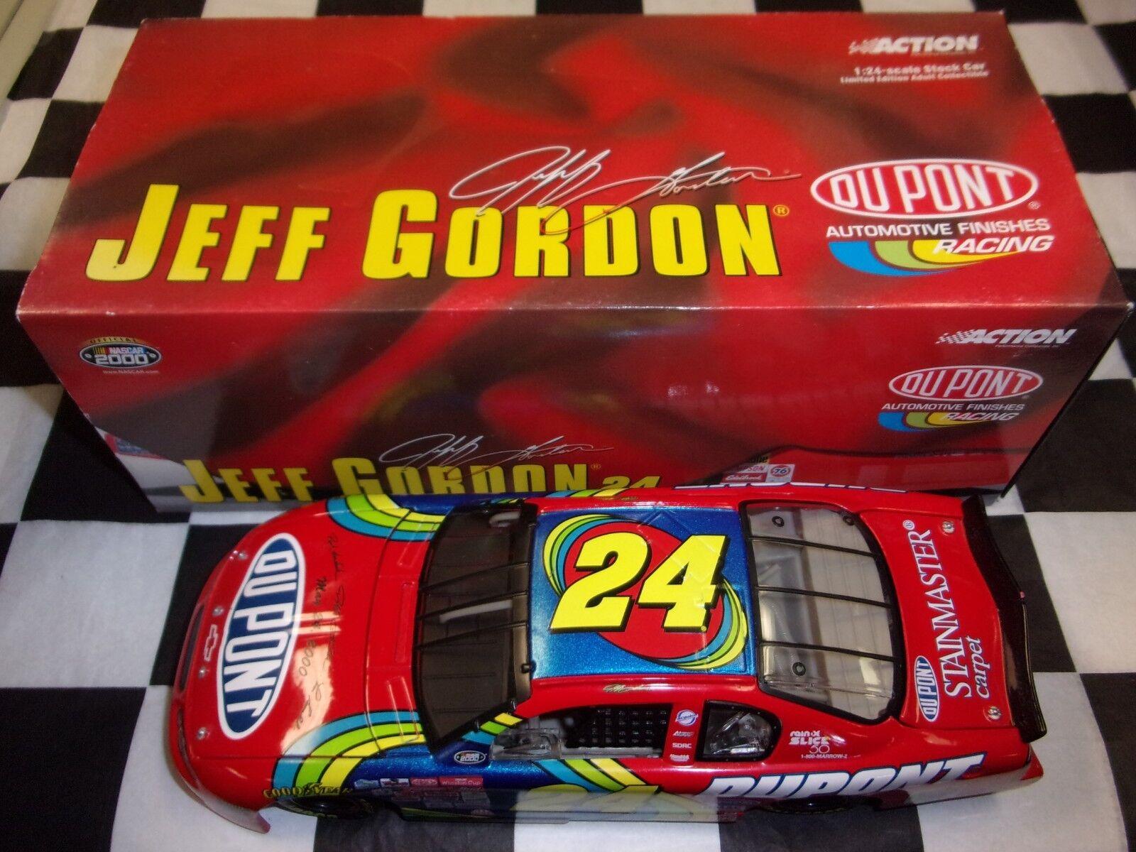 Jeff Gordon  24 Dupont Charlotte 2000 MONTE CARLO 1 24 échelle Voiture Nascar Action