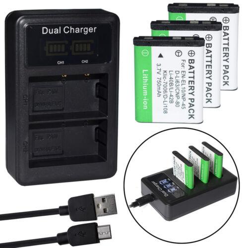 6wh Li-ion negro Duracell batería para Sony nex-3 7,4v 1030mah//7