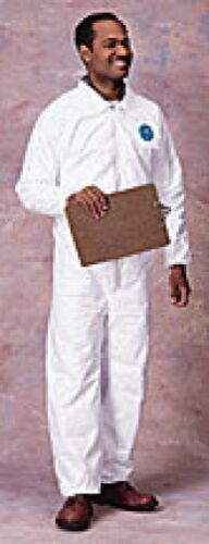 DUPONT TY125S 4X TYVEK COVERALLS EWA ELASTIC WRIST//ANKLE CS//25