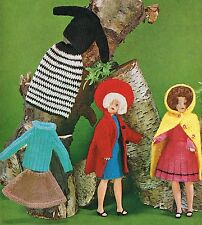 "12""  Dolls clothes knitting and crochet pattern  .Laminated copy.(V Doll 28)"