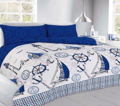 MODERN JAKE SAILING DUVET QUILT COVER BEDDING SET SINGLE DOUBLE KING SUPERKING