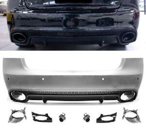 Fuer-Audi-A5-Sportback-8T-08-16-RS5-Look-Heckstossstange-Kuehlergrill-Stossstange-0