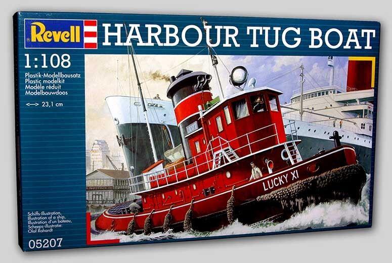 2001 Revell of Germany 5207 1 108 Harbour Tug Boat Ship Model Kit new in the box
