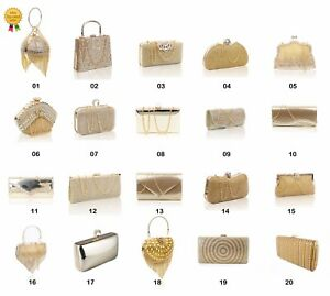 Ladies-Ideal-Party-Wedding-Bridal-Prom-Gold-Evening-Clutch-Handbag-Collection