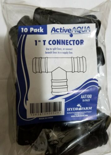 """1inch 1/""""  T Connector pack of 10"""