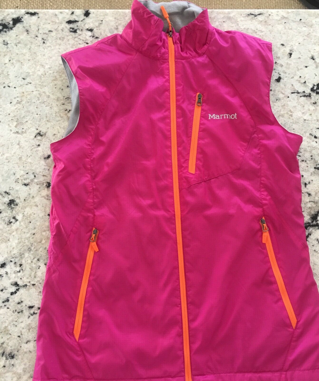 Marmot Pink vest with fleece lining size s p