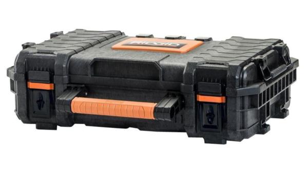 Ridgid black portable garage tool storage chest box ...