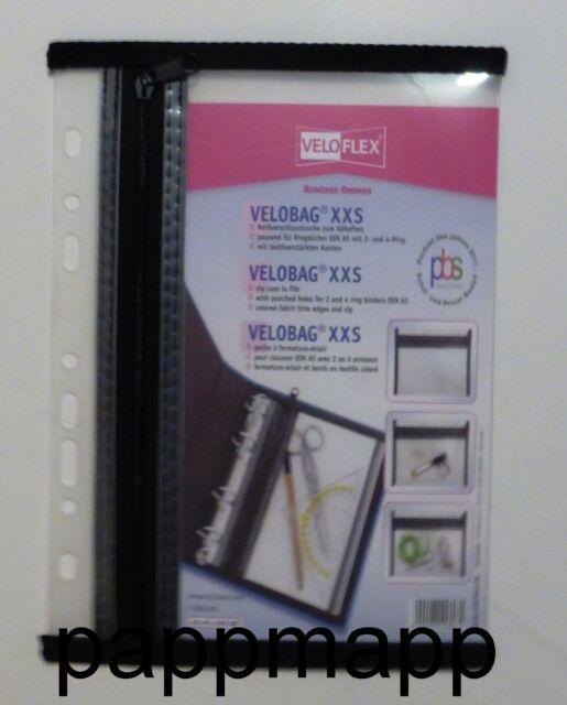 VELOFLEX Reißverschlusstasche VELOBAG A4 A5 Reißverschlussbeutel