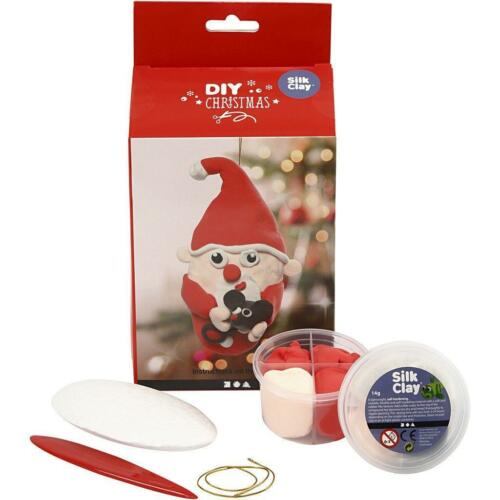 Silk Clay DIY Set For Christmas Santa Claus Making Moulding Modelling Crafts