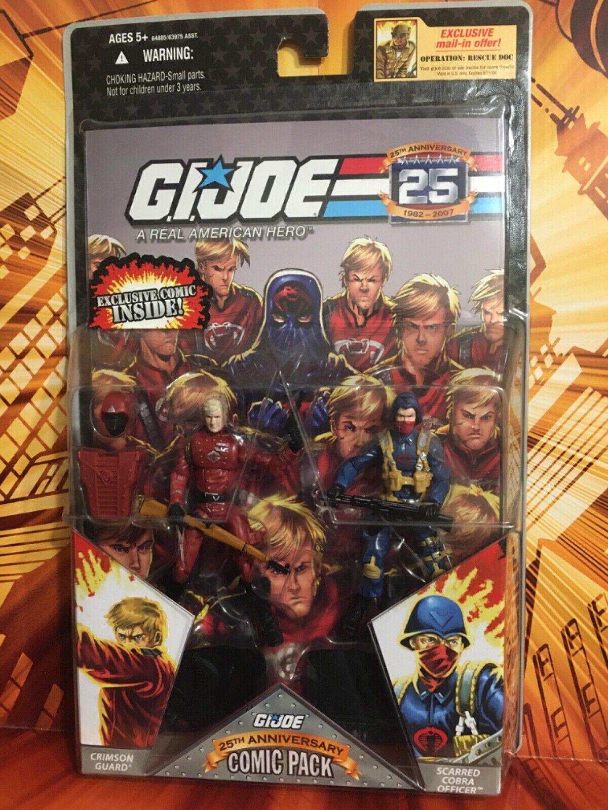Crimson Guard /& Scarred Officer Comic Pack G.I JOE COBRA 25th Anniversary MOC