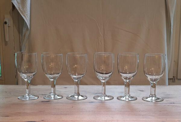 100% Wahr 6 Gläser, Französische Weingläser, Bistrogläser, Bistro, Gründerzeit