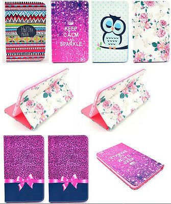 New Various Pattern Flip PU Leather Stand Skin Case Cover For Samsung Tablet PC